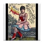 Tattooed Lady Aimee Vintage Advertising Print Tile