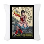 Tattooed Lady Aimee Vintage Woven Throw Pillow