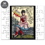 Tattooed Lady Aimee Vintage Advertising Print Puzz