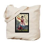 Tattooed Lady Aimee Vintage Advertising Print Tote