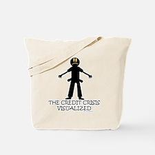 Visual Credit Crisis Tote Bag