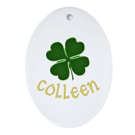 Colleen Irish Oval Ornament