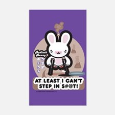Bad Luck Bunny Rectangle Decal