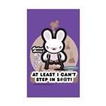 Bad Luck Bunny Rectangle Sticker