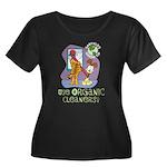 Organic Cleaners Women's Plus Size Scoop Neck Dark