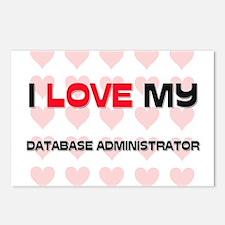 I Love My Database Administrator Postcards (Packag