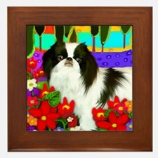 Japanese Chin Lake Framed Tile