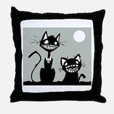 Creepy Kitty Throw Pillow