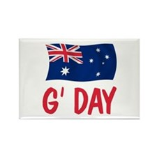 Australian G'Day Rectangle Magnet