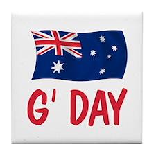 Australian G'Day Tile Coaster