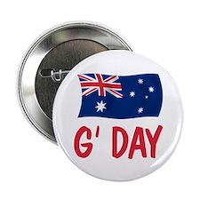 "Australian G'Day 2.25"" Button"