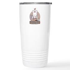 Bad Luck Bunny Karate Travel Mug