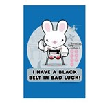 Bad Luck Bunny Karate Postcards (Package of 8)