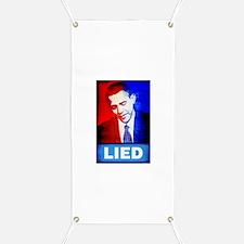 Obama Lied Banner