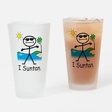 Suntan Stick Figure Drinking Glass