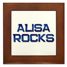 alisa rocks Framed Tile