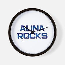 alina rocks Wall Clock