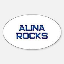 alina rocks Oval Decal