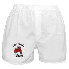 Just Gotta Scoot Red Boxer Shorts