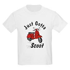 Just Gotta Scoot Red Kids T-Shirt