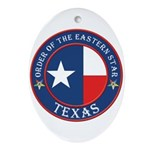 Texas Flag OES Oval Ornament