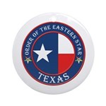 Texas Flag OES Ornament (Round)