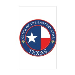 Texas Flag OES Rectangle Decal