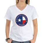 Texas Flag OES Women's V-Neck T-Shirt