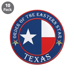 "Texas Flag OES 3.5"" Button (10 pack)"