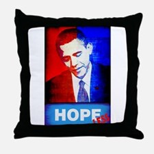 Obama is Hopeless Throw Pillow