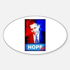 Obama is Hopeless Oval Decal