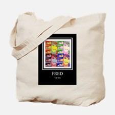 Funny Fred Tote Bag