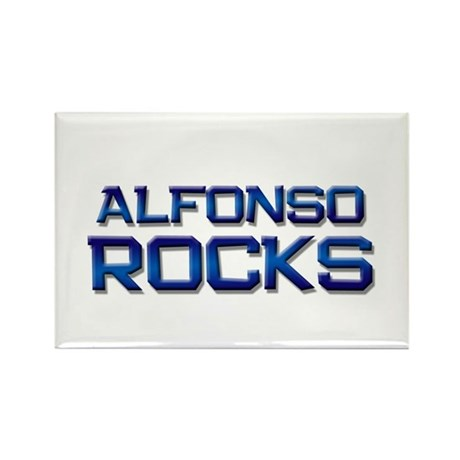 alfonso rocks Rectangle Magnet