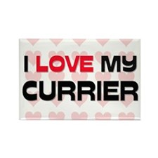 I Love My Currier Rectangle Magnet