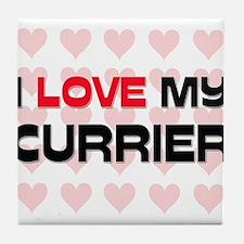 I Love My Currier Tile Coaster