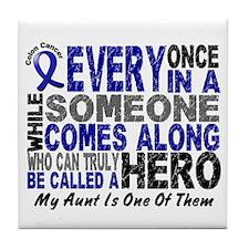 HERO Comes Along 1 Aunt CC Tile Coaster