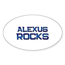 alexus rocks Oval Decal