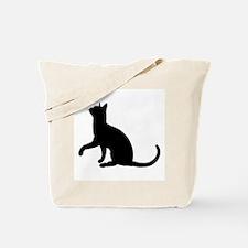 Black Cat Silhouette Tote Bag