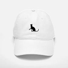 Black Cat Silhouette Baseball Baseball Cap