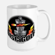 Flammin Disc Golf Large Mug