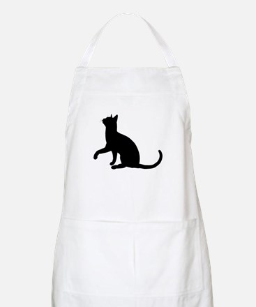 Black Cat Silhouette BBQ Apron