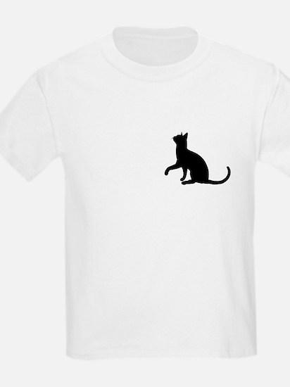 Black Cat Silhouette Kids T-Shirt