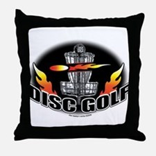 Flammin Disc Golf Throw Pillow