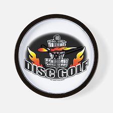 Flammin Disc Golf Wall Clock