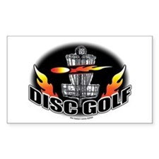Flammin Disc Golf Rectangle Decal