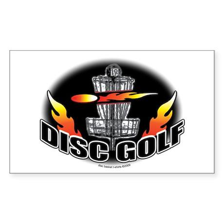 Flammin Disc Golf Rectangle Sticker