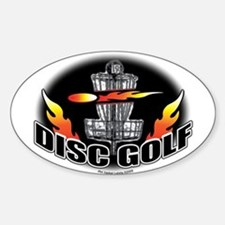 Flammin Disc Golf Oval Decal