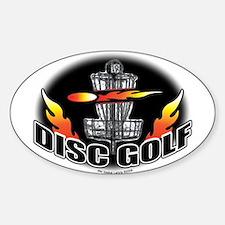 Flammin Disc Golf Oval Decal