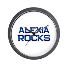 alexia rocks Wall Clock