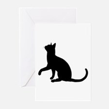 Black Cat Silhouette Greeting Cards (Pk of 10)